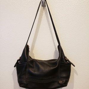 The sak black leather shoulder bag 6 pockets